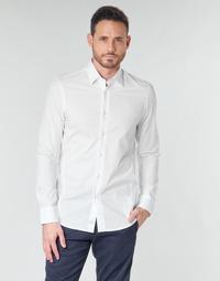 vaatteet Miehet Pitkähihainen paitapusero G-Star Raw DRESSED SUPER SLIM SHIRT LS Valkoinen