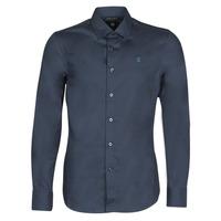 vaatteet Miehet Pitkähihainen paitapusero G-Star Raw DRESSED SUPER SLIM SHIRT LS Sininen