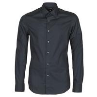vaatteet Miehet Pitkähihainen paitapusero G-Star Raw DRESSED SUPER SLIM SHIRT LS Black