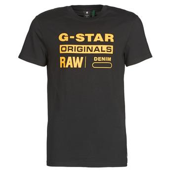 vaatteet Miehet Lyhythihainen t-paita G-Star Raw COMPACT JERSEY O Dk / Musta