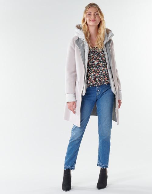 vaatteet Naiset Paksu takki Oakwood LILIANA BI Ivory / Grey