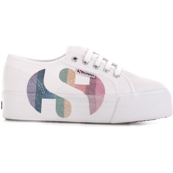 kengät Naiset Matalavartiset tennarit Superga S11181W Bianco/multicolor