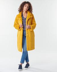 vaatteet Naiset Paksu takki S.Oliver 05-009-52 Yellow