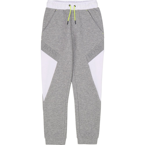 vaatteet Pojat Verryttelyhousut BOSS J24664 Grey