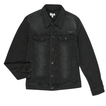 vaatteet Pojat Farkkutakki Pepe jeans LEGENDARY Black