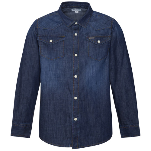 vaatteet Pojat Pitkähihainen paitapusero Pepe jeans JHON Blue