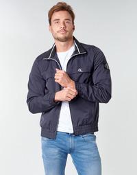 vaatteet Miehet Pusakka Calvin Klein Jeans ZIP UP HARRINGTON Laivastonsininen