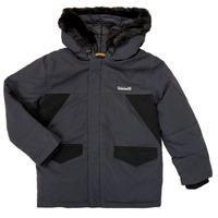 vaatteet Pojat Parkatakki Timberland T26525 Harmaa