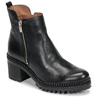kengät Naiset Nilkkurit Wonders H3924-VACHETA-NEGRO Black