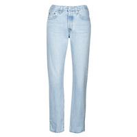 vaatteet Naiset Boyfriend-farkut Levi's 501 CROP Valkoinen / taivaansininen / Ra
