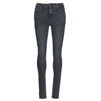 vaatteet Naiset Skinny-farkut Levi's 720 HIGH RISE SUPER SKINNY Helmiäishohtoinen beige / Musta / hopea