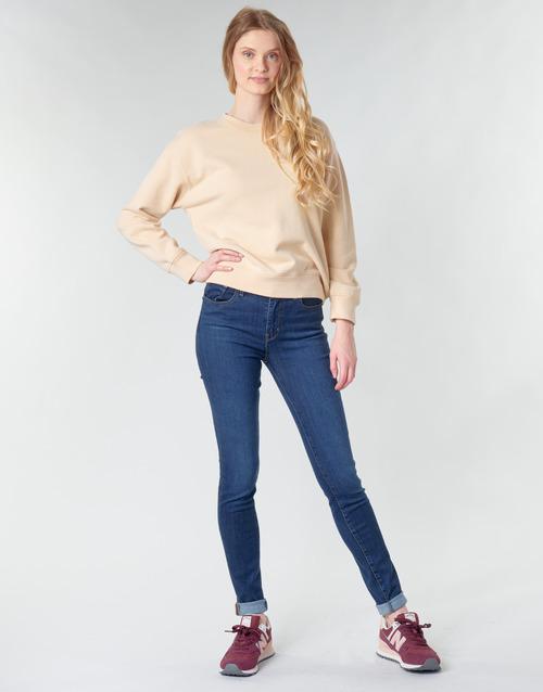 vaatteet Naiset Skinny-farkut Levi's 721 HIGH RISE SKINNY Bogota / Feels