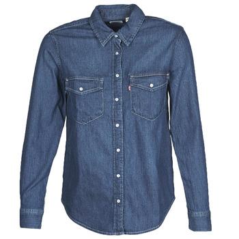vaatteet Naiset Paitapusero / Kauluspaita Levi's ESSENTIAL WESTERN Blue