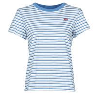 vaatteet Naiset Lyhythihainen t-paita Levi's PERFECT TEE Sininen