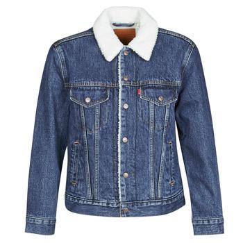 vaatteet Naiset Farkkutakki Levi's EX-BF SHERPA TRUCKER Blue