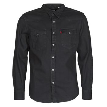 vaatteet Miehet Pitkähihainen paitapusero Levi's BARSTOW WESTERN STANDARD Musta