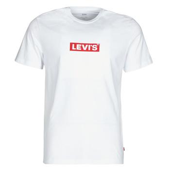 vaatteet Miehet Lyhythihainen t-paita Levi's BOXTAB GRAPHIC TEE Valkoinen