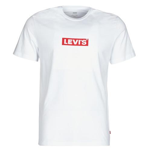 vaatteet Miehet Lyhythihainen t-paita Levi's BOXTAB GRAPHIC TEE White