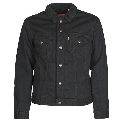 vaatteet Miehet Farkkutakki Levi's TYPE 3 SHERPA TRUCKER Black