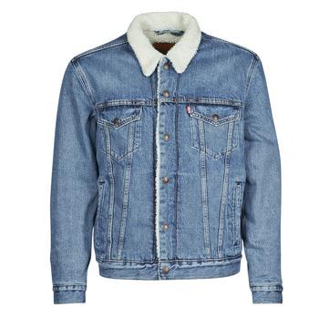 vaatteet Miehet Farkkutakki Levi's TYPE 3 SHERPA TRUCKER Blue