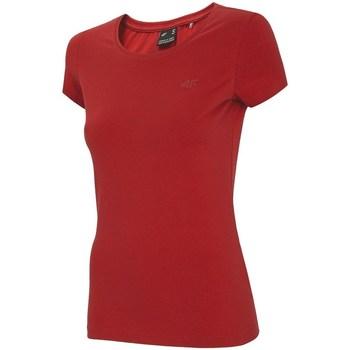vaatteet Naiset Lyhythihainen t-paita 4F NOSH4 TSD001 Punainen