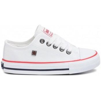 kengät Lapset Matalavartiset tennarit Big Star FF374200 Valkoiset