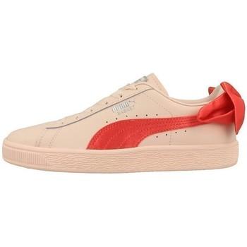 kengät Lapset Matalavartiset tennarit Puma Basket Bow JR Oranssin väriset