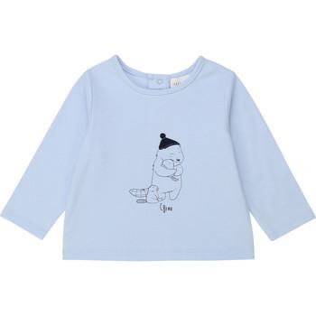 vaatteet Pojat T-paidat pitkillä hihoilla Carrément Beau Y95249 Sininen