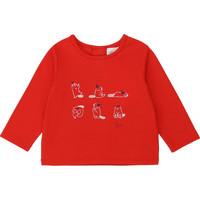 vaatteet Tytöt T-paidat pitkillä hihoilla Carrément Beau Y95252 Red