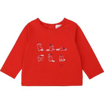 vaatteet Tytöt T-paidat pitkillä hihoilla Carrément Beau Y95252 Punainen