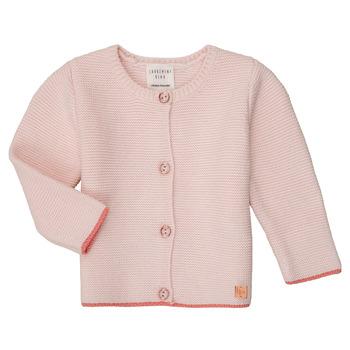 vaatteet Tytöt Neuleet / Villatakit Carrément Beau Y95225 Vaaleanpunainen