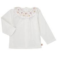 vaatteet Tytöt T-paidat pitkillä hihoilla Carrément Beau Y95244 White