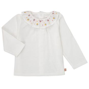 vaatteet Tytöt T-paidat pitkillä hihoilla Carrément Beau Y95244 Valkoinen