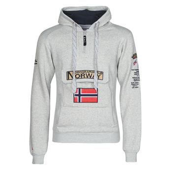 vaatteet Miehet Svetari Geographical Norway GYMCLASS Harmaa / Mustaruudullinen