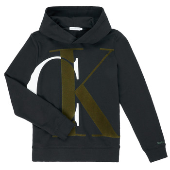 vaatteet Pojat Svetari Calvin Klein Jeans IB0IB00628-BEH Musta