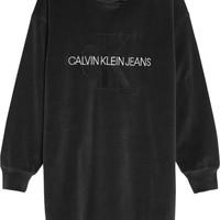 vaatteet Tytöt Lyhyt mekko Calvin Klein Jeans IG0IG00711-BEH Musta