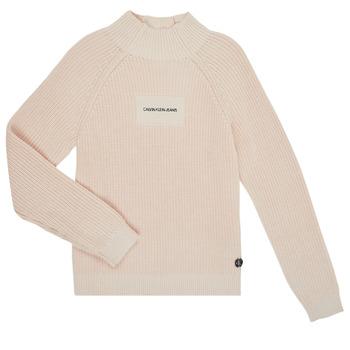 vaatteet Tytöt Neulepusero Calvin Klein Jeans IG0IG00680-PGB Harmaa