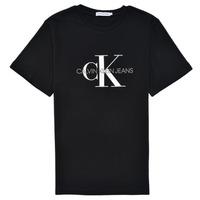 vaatteet Lapset Lyhythihainen t-paita Calvin Klein Jeans MONOGRAM Musta