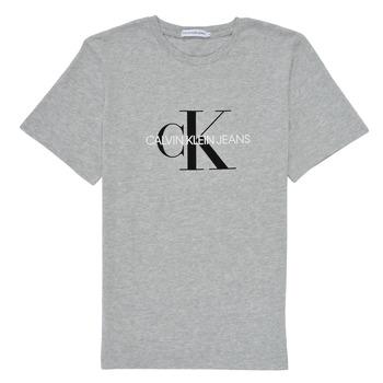 vaatteet Lapset Lyhythihainen t-paita Calvin Klein Jeans MONOGRAM Harmaa