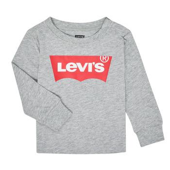 vaatteet Pojat T-paidat pitkillä hihoilla Levi's BATWING TEE LS Grey