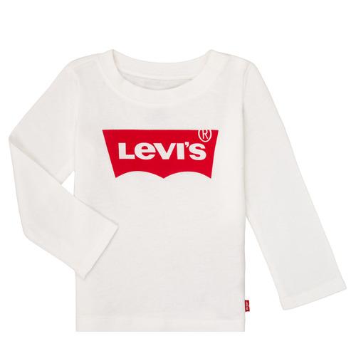 vaatteet Tytöt T-paidat pitkillä hihoilla Levi's BATWING TEE LS White