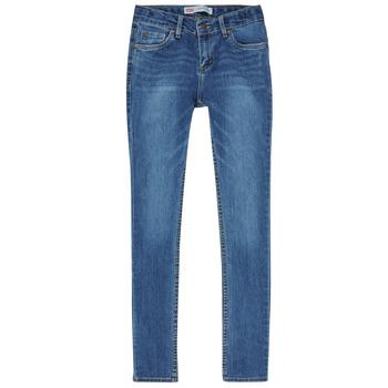 vaatteet Pojat Skinny-farkut Levi's SKINNY TAPER JEANS Sininen