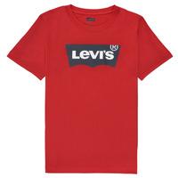 vaatteet Pojat Lyhythihainen t-paita Levi's BATWING TEE Punainen