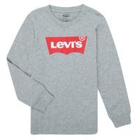 vaatteet Pojat T-paidat pitkillä hihoilla Levi's BATWING TEE LS Harmaa