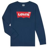vaatteet Pojat T-paidat pitkillä hihoilla Levi's BATWING TEE LS Sininen