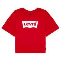 vaatteet Tytöt Lyhythihainen t-paita Levi's LIGHT BRIGHT CROPPED TEE Punainen