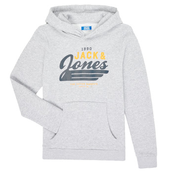 vaatteet Pojat Svetari Jack & Jones JJELOGO SWEAT HOOD Grey