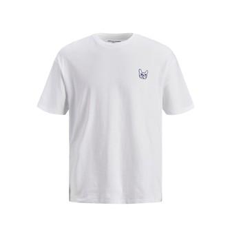 vaatteet Pojat Lyhythihainen t-paita Jack & Jones JJAARHUS TEE White