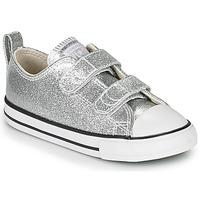 kengät Tytöt Matalavartiset tennarit Converse Chuck Taylor All Star 2V - Coated Glitter Hopea
