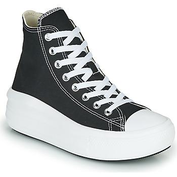 kengät Naiset Korkeavartiset tennarit Converse Chuck Taylor All Star Move Canvas Color Hi Musta